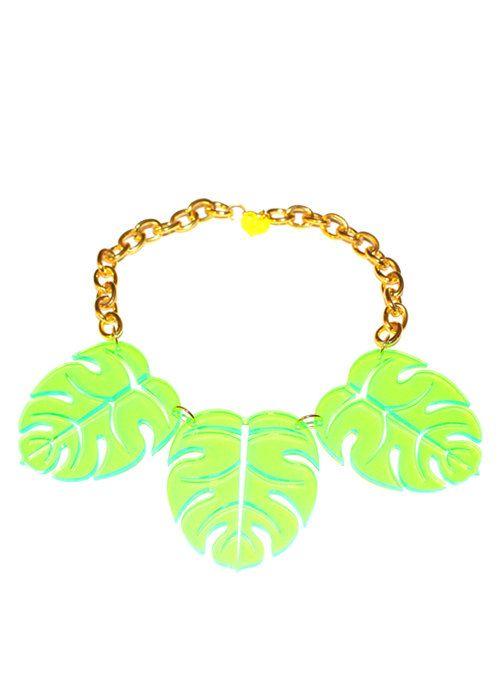 Palm Necklace by ILoveCrafty on Etsy