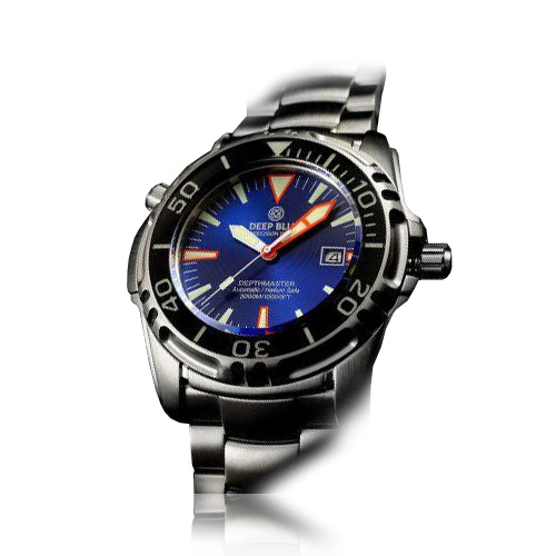 Deep Blue - Depthmaster 3000m - solid deployant clasp and solid diver extension, domed Bezel unidirectional 120 clicks with SAPPHIRE insert, Helium valve: Manual + protective cap, Screw-in crown, Double O-ring case back, Date function.