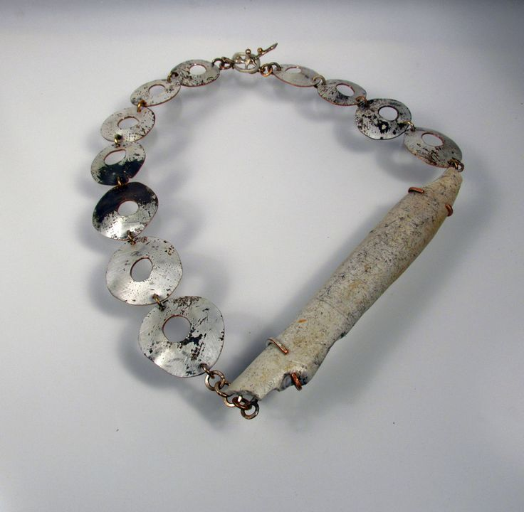 Roxy Lentz -  Necklace of recycled metal, PVC pipe. Discarted show, Ojai CA.