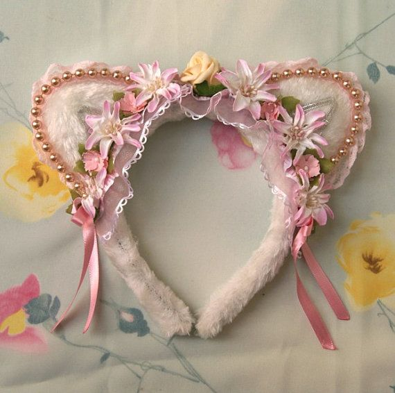 Plushie Neko Cat ears headband, Kawaii kitten, cat ears, Neko by SpiritKawaii