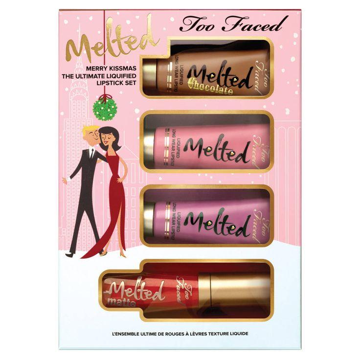 Merry KISSmas - Melted and Melted Chocolate Set - Coffret de maquillage de Too Faced sur Sephora.fr