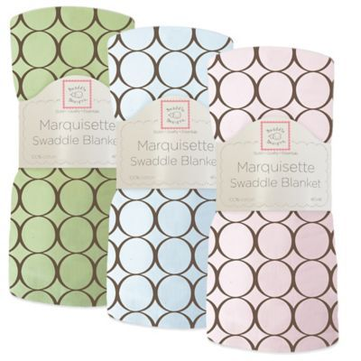 Swaddle Designs Circles Lightweight Marquisette Swaddling Blanket