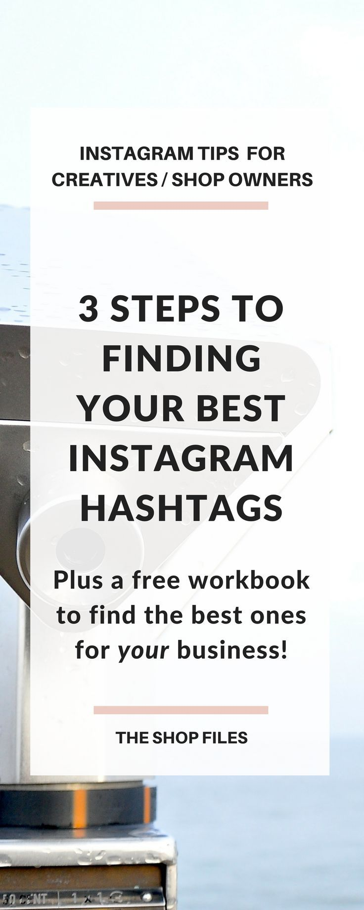 Tips on how to find the best Instagram hashtags for creatives, etsy sellers and online shop owners. Follow this three part guide to determine the best Instagram hashtags to use for your business | Instagram business tips and social media strategy