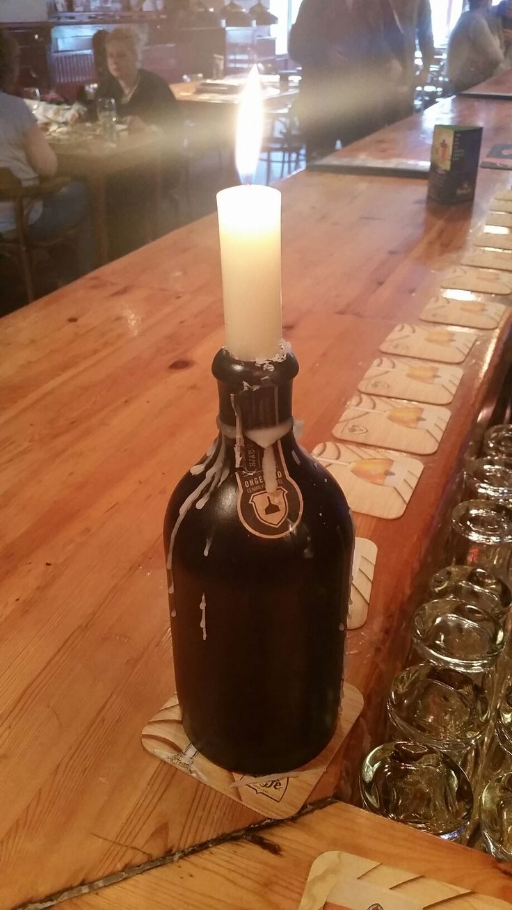 Kaars candle cosy gezellig fles bottle