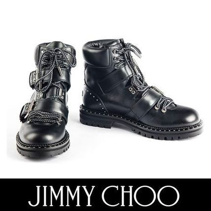 Jimmy Choo ショートブーツ・ブーティ Jimmy Choo メンズライクなスタイルに レザーアンクルブーツ