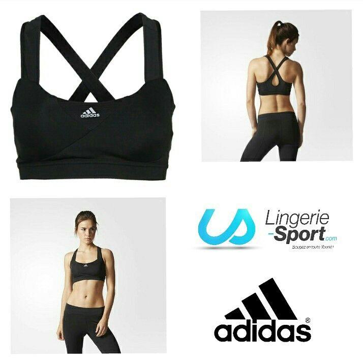 Brassière de #sport Adidas Supernova S90389 Noir, idéal pour les petites poitrines #lingeriesport #fraisdeportgratuit #adidas  #pilates #running #fitness