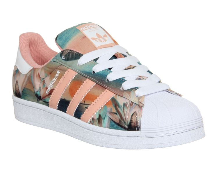 Adidas Superstar 2 Dust Pink Farm Print W - His trainers