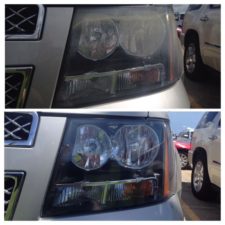 These are headlights that were restored by Nulites Headlight Restoration Service in Baton Rouge. Www.nulites.com
