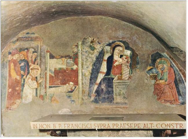 Maestro di Narni, 1409. Affresco di Greccio