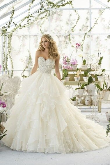 Perfectly romantic! #weddingdress Mori Lee Wedding Dresses - Style 2815