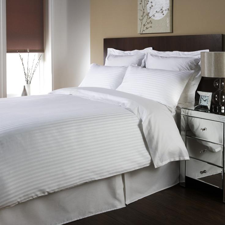 Sateen Stripe Cotton Bedding