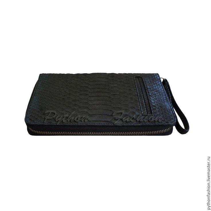 Купить Мужской кошелек портмоне из питона MICHAEL - кошелек ручной работы, кошелек кожаный