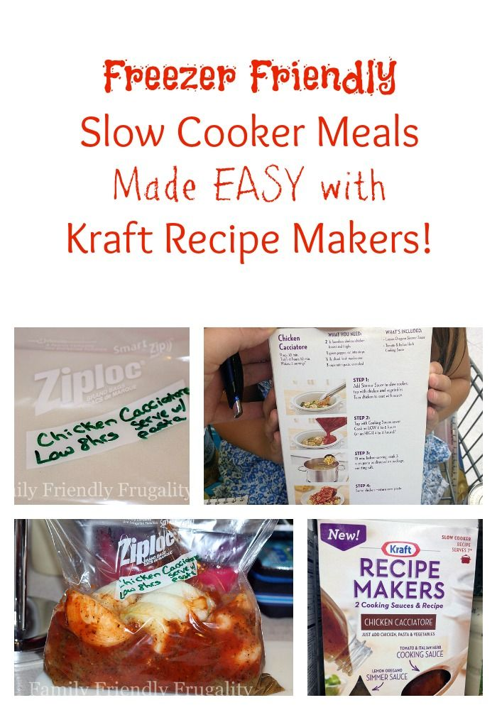 ... Foods on Pinterest | Freezers, Slow cooker freezer meals and Meals