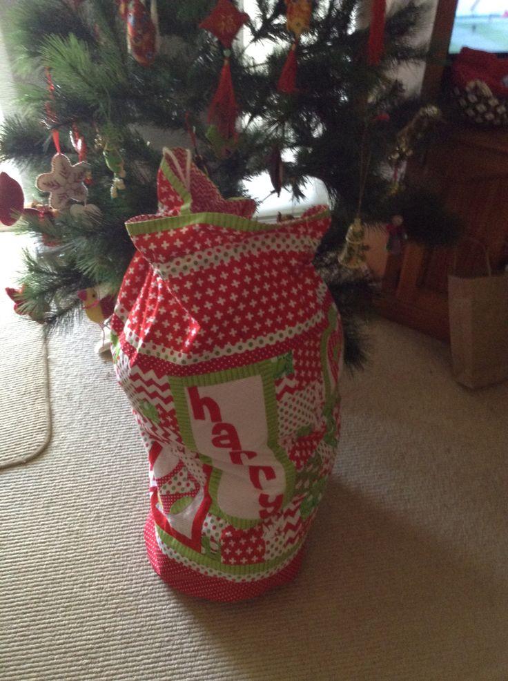 Santa bag made for Harry, 2015