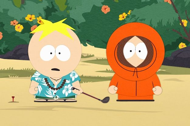 "#South_Park Season 16, Episode 10 : ""Going Native"" {Hawaiian style Butters & regular Kenny}"
