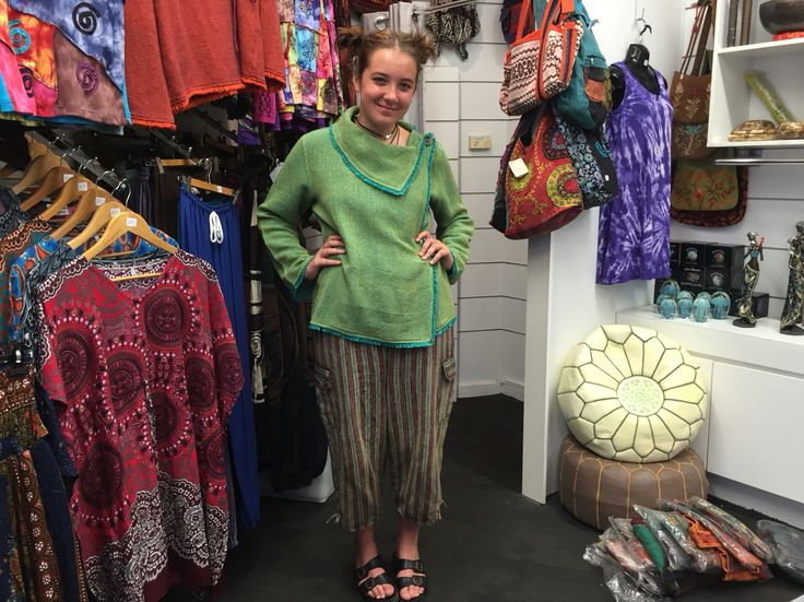 Jazz from Melbourne is excited about our unique handmade clothing from Nepal #NepaleseClothing #HippieClothing #Pashmina #Felts