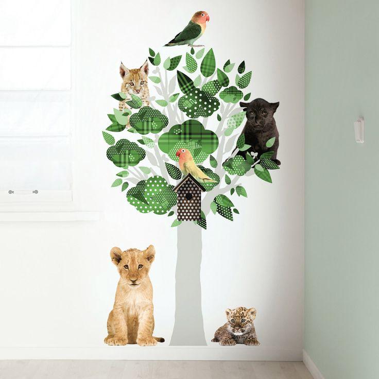 KEK Amsterdam Wandtattoo Safari Baum grün 145cm