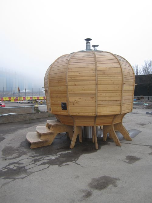 outdoor sauna, helsinki I didn't get to see this when I went to Finland--wish I had. Finland is the land of 10,000 saunas!