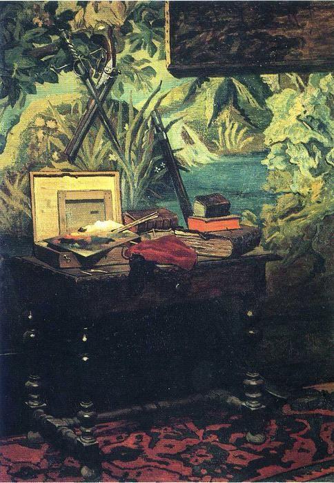 Acheter Tableau 'a angle de le studio' de Claude Monet - Achat d'une reproduction sur toile peinte à la main , Reproduction peinture, copie de tableau, reproduction d'oeuvres d'art sur toile