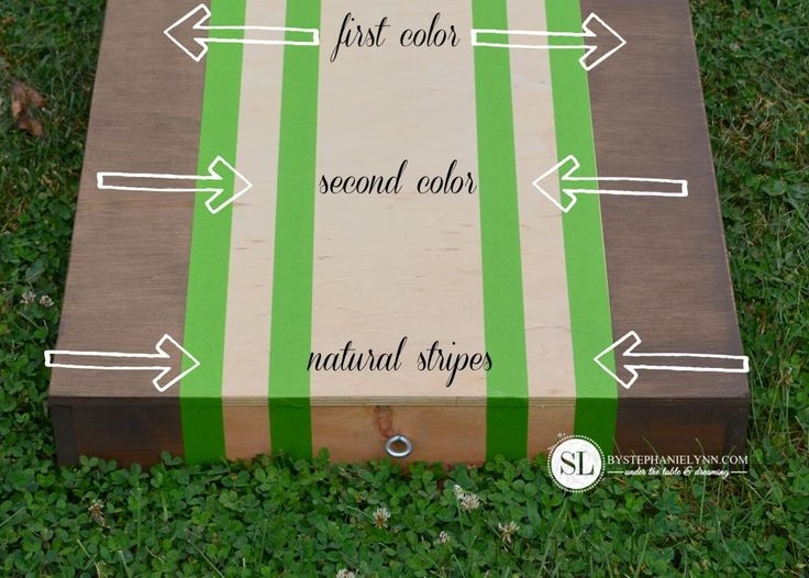painting cornhole board stripes - Cornhole Design Ideas