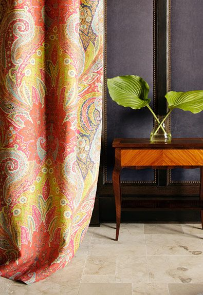Schumacher Cambay Paisley In Parrot