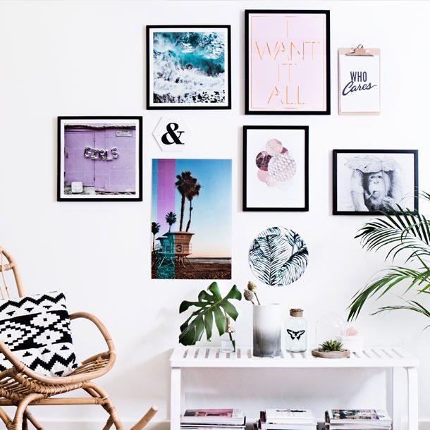 Diese Bilderwand würden wir uns am Liebsten als Poster ausdrucken und direkt so an die Wand hängen!