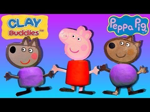 PEPPA PIG Halloween Play Doh Costumes Peppa Pig Mermaid Ghost and Pumpkin Playdough Episode - YouTube