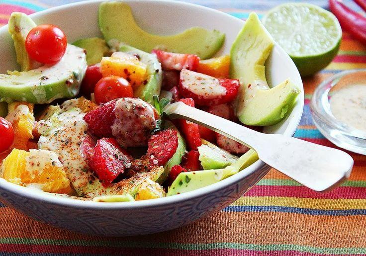 Cozinhadaduxa: Uma salada cheia de Cor e Sabor