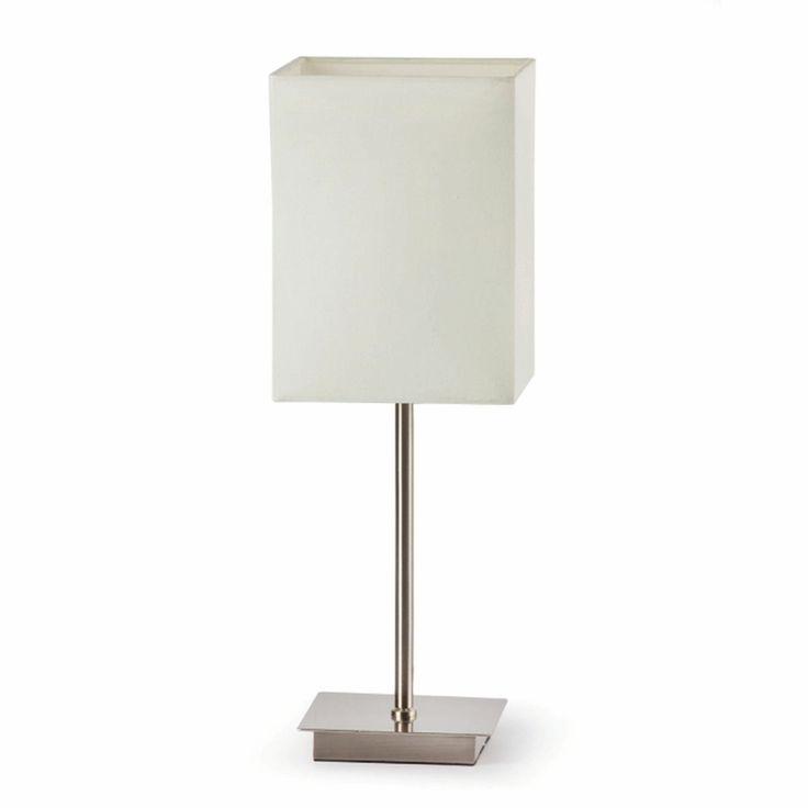 Lámpara de Mesa sobria blanca con pantalla #decoracion #iluminacion #interiorismo #diseño #lamparas #lamparasmesa #lamparasbonitas