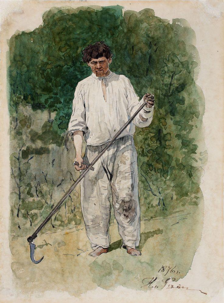 Ilja Repin: Niittomies/Sköderman/Scytheman. 1876. Kansallisgalleria / Tero Suvilammi