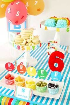 abc & 123- Birthday Party with free party printables!