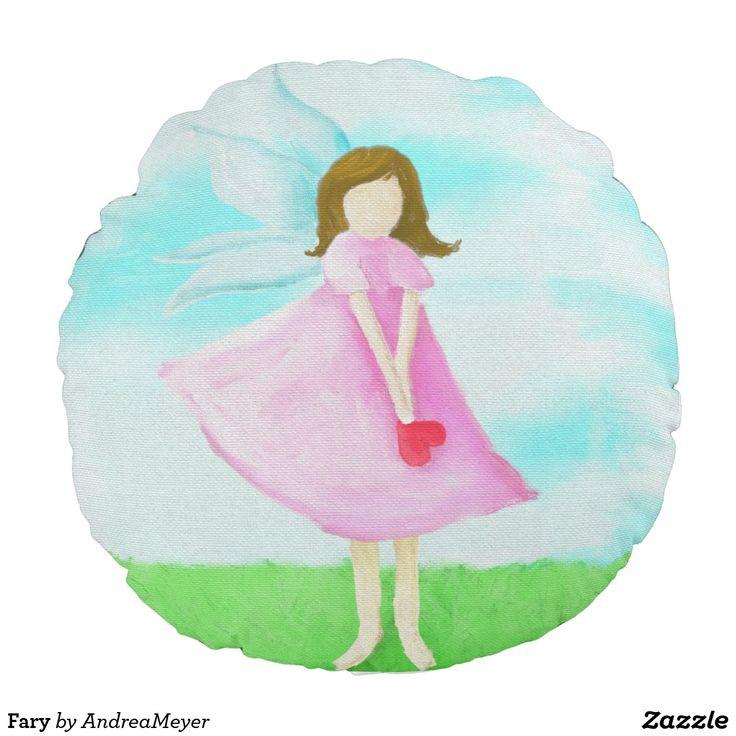 Fary * Rundes Kissen kaufen * Geschenk * Geschenkidee * Fee * Kinderzimmer * Elfe *** Gift Idea * buy * Elve  #andreameyer