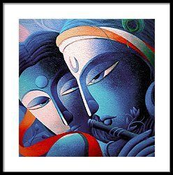 Lord Sri Krishna Framed Print by Dhananjay Mukherjee
