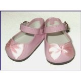 Pink Classic Patent Elegant Mary Jane Doll Shoes Fit Bitty Baby and Terri Lee (Toy)