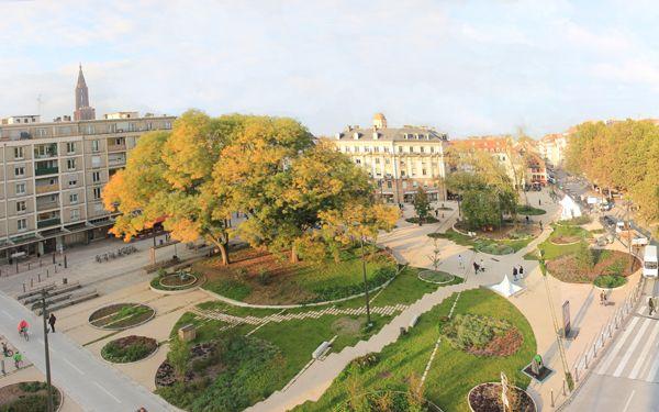 Aménagement de la place d'Austerlitz à Strasbourg