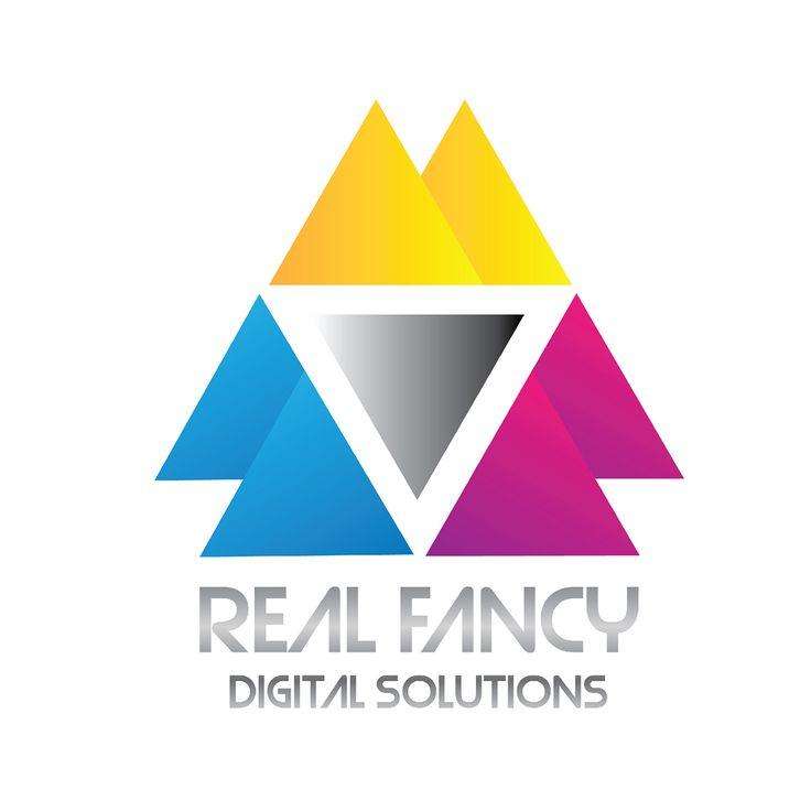 Logo realizado para la agencia de diseño web #RealFancy. Diseñado por la agencia de publicidad Laboratorio Grafico Bogotá.