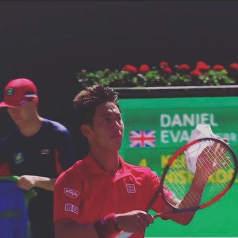 Pinを追加しました!/よしっ! 6-3、6-4で錦織圭選手勝利! #GO錦織 #keinishikori #indianwells #wilson #burn95cv #tennistv #tennis