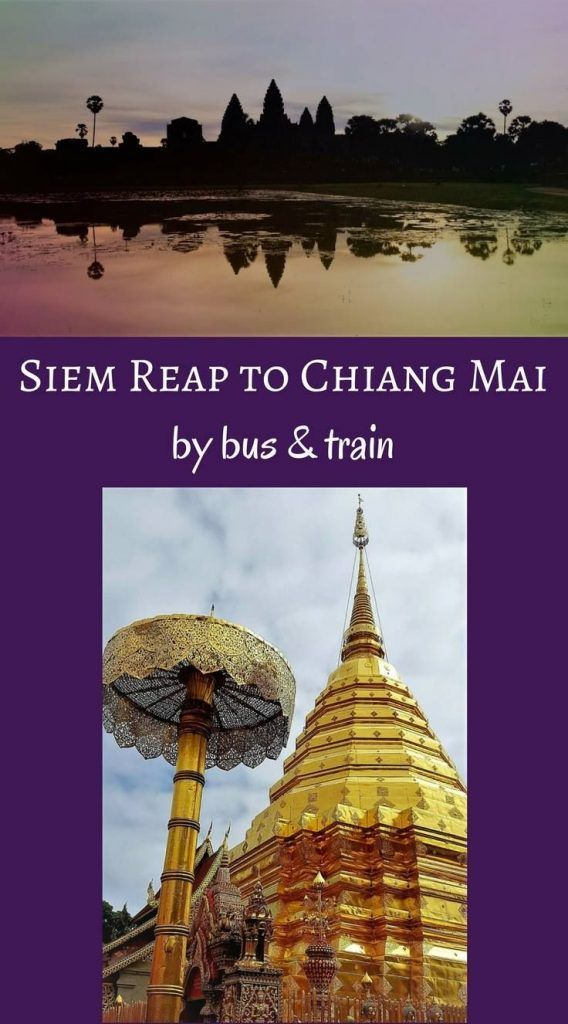 Travel from Siem Reap to Chiang Mai Thailand by Bus and Train. Bus from Siem Reap to Bangkok. Bangkok to Chiang Mai by Train. #busfromsiemreap #trainchiangmai