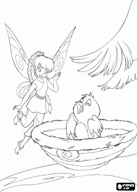 Tinkerbell Friends Coloring Pages They Have Terrance Can Color Online Or Just