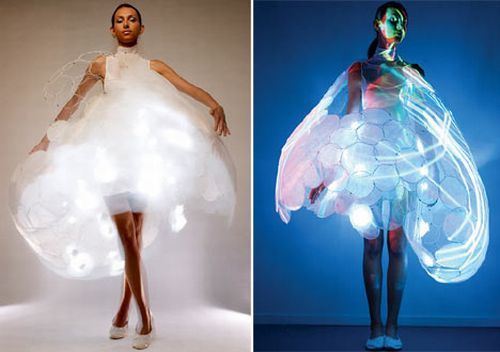 Yeah, if it lights up? Probably not haute couture...or maybe....: Emotional Dresses, Dresses Style, Emotional Sensitive, Sensitive Dresses, Weird Dresses, Emotionsensit Dresses, Wearable Art, The Dresses, Led Dresses