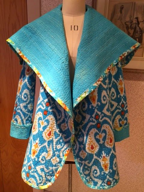 The reversible Kantha Quilt Jacket. Free pattern from Sew News.