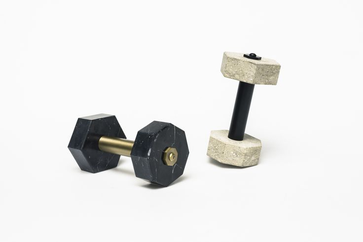 HERCULE, Charlotte Juillard The forerunner of the dumbbell, found in ancient Greece, was used as a lifting weight made of stone. Heracles is reminiscent of this object which transcends functionality in favor of aesthetical symbolism. The piece becomes a narrative object used also as a paperweight on your desk, or for the genuine esthete as a luxury dumbbell. #extraordinarygallery #fabrica #charlottejuillard
