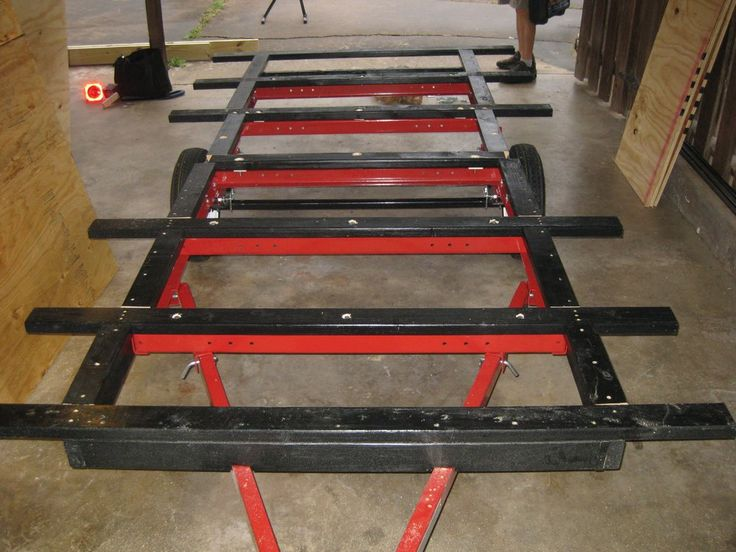 Boat Trailer Wheel Extenders : Expand width of harbor freight trailer crafty shit