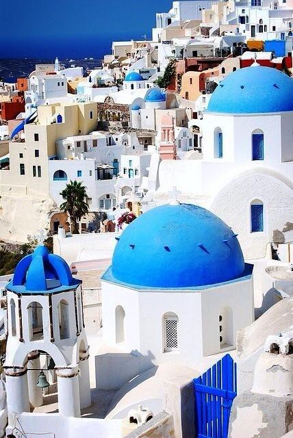 Je rêve de voir ce bleu et ce blanc en personne un jour - Santorin, Grèce.
