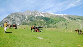 Sonamarg is a hill station in Ganderbal district in the Indian state of Jammu and Kashmir.