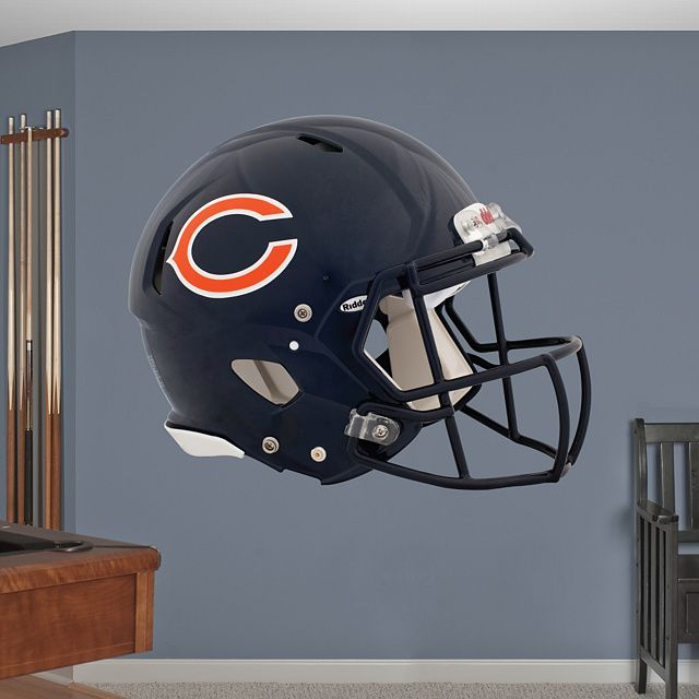 Chicago Bears Helmet REAL.BIG. Fathead Wall Graphic | Chicago Bears Wall Decal | Sports Décor | Football Bedroom/Man Cave/Nursery