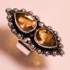 Unique Jewelry - Lemon Quartz Vintage Style.925 Sterling Silver Jewelry Ring