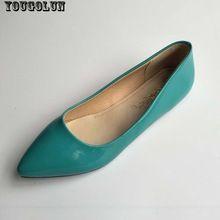 YOUGOLUN Plat Chaussures Femmes Élégant Bureau bout Pointu Appartements Dames De Mode Noir Rouge Jaune Vert Bleu Abricot Printemps Automne Chaussures(China (Mainland))