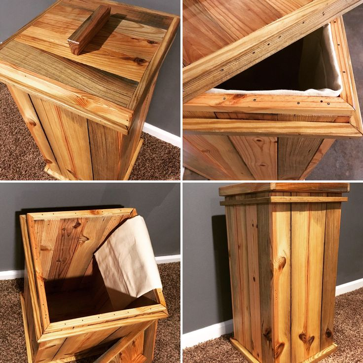Reclaimed wood storage bin, rustic laundry hamper, dog food storage bin, rustic kitchen trash can, primitive potato bin, Laundry room by RusticPineCreation on Etsy https://www.etsy.com/listing/528957403/reclaimed-wood-storage-bin-rustic
