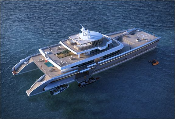 Manifesto is a spectacular 234ft(71m) catamaran mega yacht, designed by French-based naval architects and designers - VPLP Design.